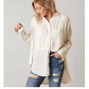 free people cream tunic